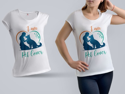 I am pet lover T shirt design
