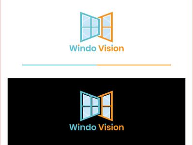 Windo logo design business card design teespring logo flat letter logo vector branding creative  design graphic design window
