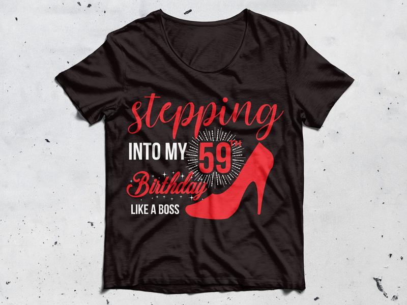 59 th birthday  t shirt business card design typography illustration tshirtdesign t shirt design teespring t-shirt t shirt creative  design graphic design