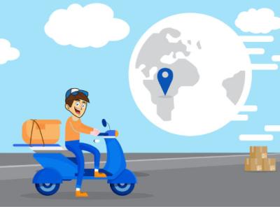 Illustration delivery man