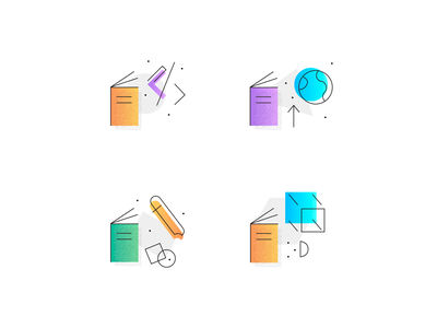 Education Icon Set icon set icon 3d codepen code planet book education