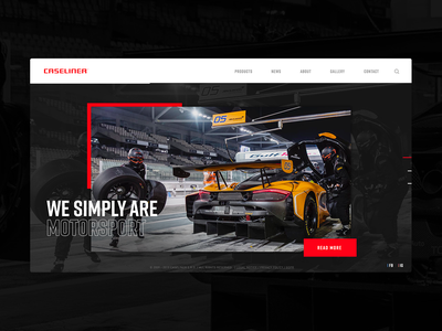 Caseliner Home Page ui dark caseliner motorsports cars car equipment motorsport web design website web