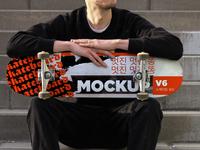 Skateboard Mockup V6 photoshop psd psd mockup mock-up mockups mockup branding deck skateart logo type design skate skateboard