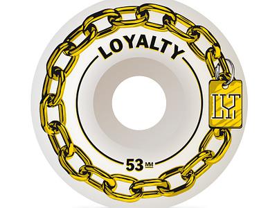 Gold dog chain   Skateboard Wheel sk8 monogram gold chain dog wheel skate skateboard wheel