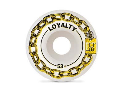 Gold dog chain | Skateboard Wheel sk8 monogram gold chain dog wheel skate skateboard wheel