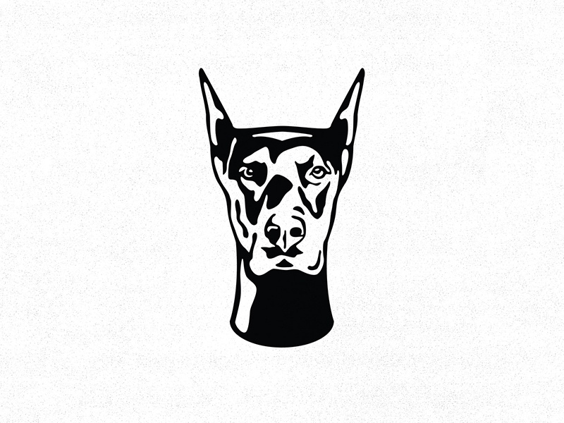 Loyalty Hardware  illustration skate skateboard hardware dobermann dog isotype logo