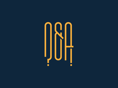 Q&A Logo -  ?&! type ampersand logo answers question