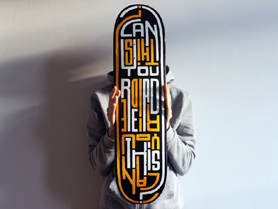 Can you read/ride this? black molotow handmade type lettering custom skateart deck skate board skateboard