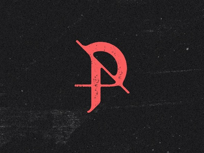 AP Monogram techno dj fanart logotype typography type p a logo monogram
