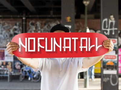 No Fun At All - Skate deck mockup punkrock punk deck skateart skateboard skate nofunatall
