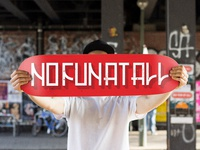 No Fun At All - Skate deck