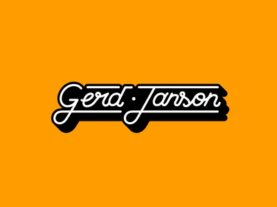 Gerd Janson - Logo j g hand lettering retro logo music house dj janson gerd
