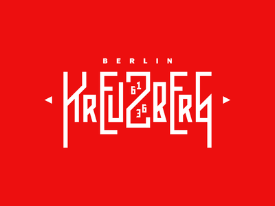Berlin - Kreuzberg weekly warm-up sticker logo type logotype kreuzberg berlin