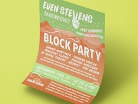 Even Stevens Sandwiches Block Party Poster