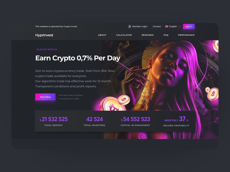 HyprInvest Cryptocurrency Exchange bitcoin dark ui cryptocurrency crypto interface ux dark ui design