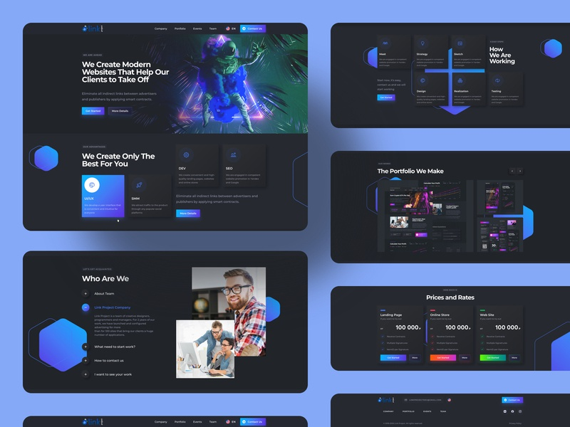Web Service Interface Design spaceman trends 2020 trends space dark ui uidesign uiux homepage dark ui design