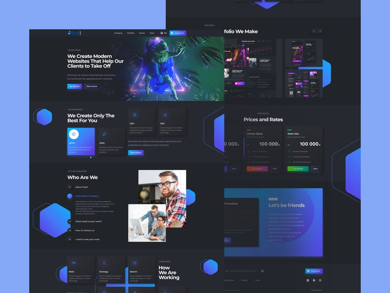 Web Service Interface Design trends2020 sketch 2020 trends spaceman space dark ui uidesign interface ux uiux homepage dark design ui
