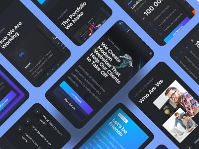Web Service Mobile Design spaceman space trends 2020 dark ui homepage dark design trends ux uiux ui mobile ui mobile