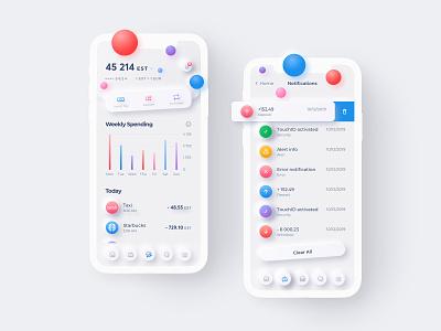 Nanopay Mobile App mobile ios design app design application clean app skeuomorph neomorphism ui iphone app iphone ios app ios mobile app app