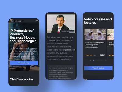 AD Academy school courses trends dark ui interface ux homepage dark design ui