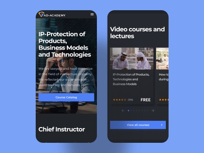 AD Academy school courses trends dark ui uidesign interface ux homepage dark design ui