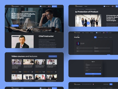 AD Academy school courses trends dark ui uidesign interface uiux ux homepage dark design ui