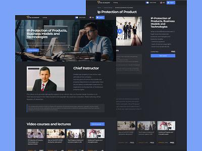 AD Academy school courses trends dark ui uidesign interface uiux ux homepage dark design ui
