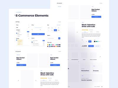 E-Commerce UI Components elements sumbols e-commerce ecommerce uikit components designsystem interface design ui