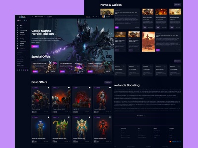 Wow Boosting Service uidesign game store game ui uiux ui warcraft wow boosting game store design store