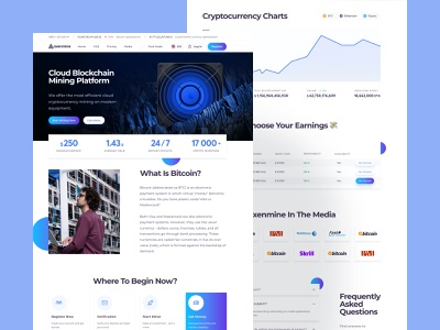 Crypto Mining Platform cryptocurrency crypto trends clean uidesign uiux interface ux design ui