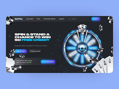 Neon Spin Roulette neon design dark neon game roulette casino spin