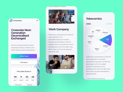 Crosswise Crypto Swap Platform mobile app mobile bitcoin coin token cryptocurrency crypto exchange clean design clean white interface homepage ux design ui