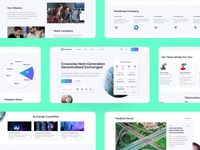 Crosswise Crypto Swap Platform exchange web bitcoin coin token cryptocurrency crypto neomorphism white clean design interface homepage ux design ui