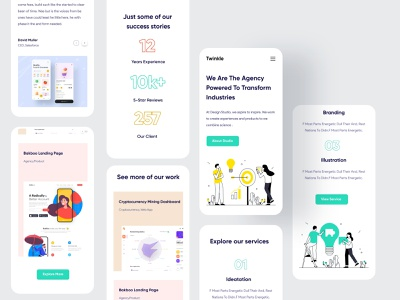 Mobile Responsive stratup popular design popular shot dailyui trends 2020 trendy design clean ui mobile design ui illustration mobile responsive mobile ui creative uidesign design landing page website webdesign agency