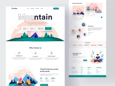 Travel landing page uiux traveling best designer popular design best shot 2021 trends mountain travel app travel agency startup landing web design uidesign interface creative web landing page webdesign website agency