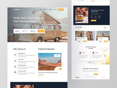 Travel-Website Design web design popularshot trips travelbee travelagency trip travel design interface creative web landing page webdesign agency website