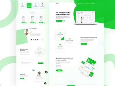 Sass- Business Agency Landing Page