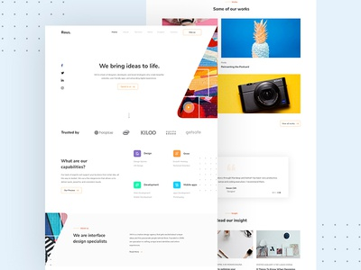 Landing Page -Rous. Digital Agency