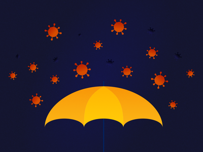 Editorial Illustration for a COVID-19 related story virus umbrella covid19 covid illustration editorial