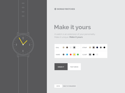 Configure your watch landing page