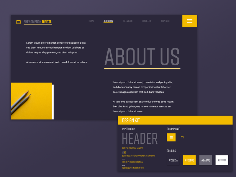 """About Us"" adobexd adobe photoshop web design branding ui adobe xd ui  ux"