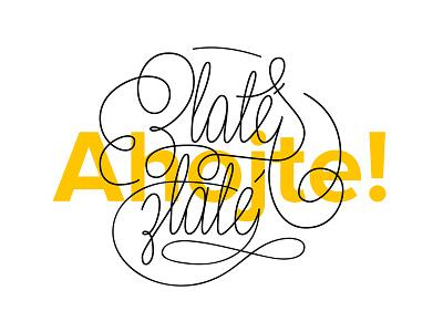 Caligraphy cover for Zlaté zlaté script type handlettering lettering caligraphy illustration typography