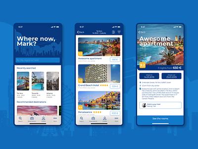 Booking.com app redesign booking product design ios figma design app ux ui