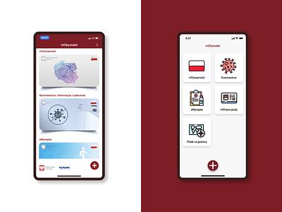 mObywatel - PL Citizens' Application ios figma ux ui design app