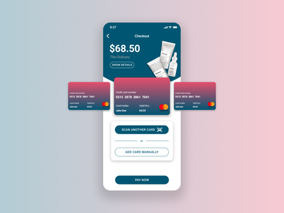 Credit Card Checkout credit card check out dailyui 002 dailyui product design ios figma app ux ui design
