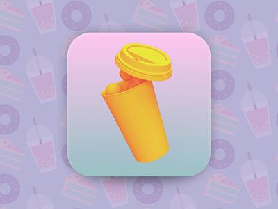 Bubble Tea House icon 3d art dailyui 005 adobe dimensions 3d dailyui ios app figma ui design