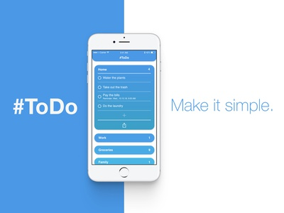 #ToDo - simple task manager design to do list todo app ux ui