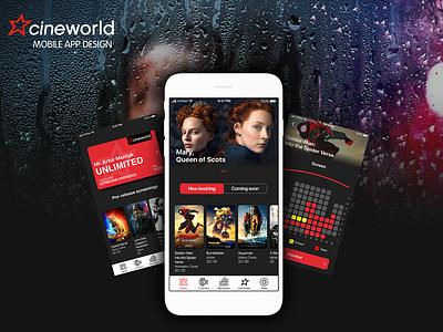 Cineworld App design cineworld cinema-city axure ios figma design app ux ui