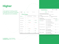 Higher —A job applicant tracking system
