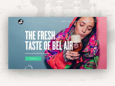 Brooklyn Brewery Homepage ny new york beer brewery brooklyn products animation mainpage design web homepage webdesign website ux ui